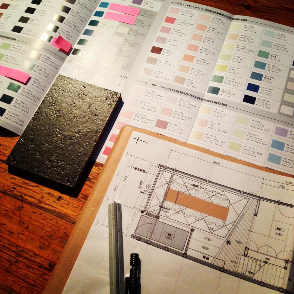ROOMBLOOMのカラーサンプル帳