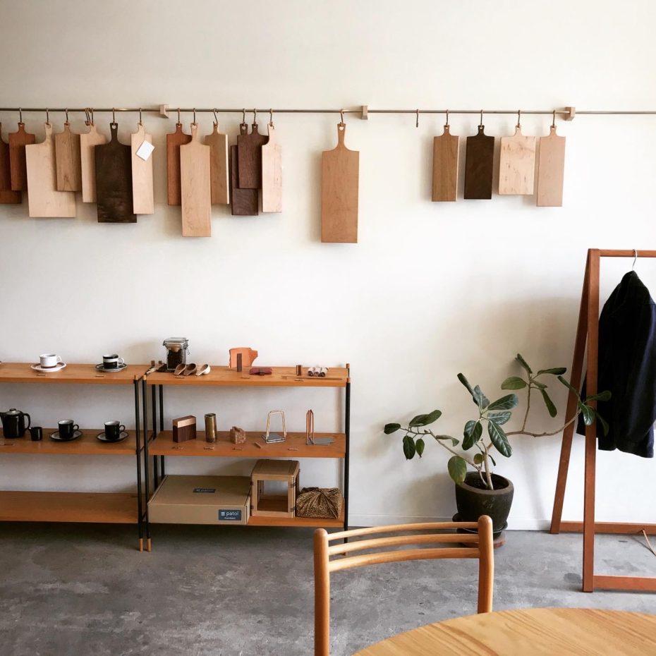 家具の端材でできたまな板いろいろ
